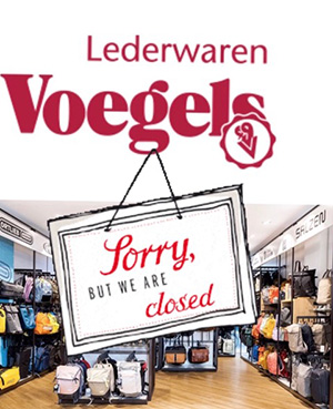 Corona-Lockdown bei Lederwaren Voegels
